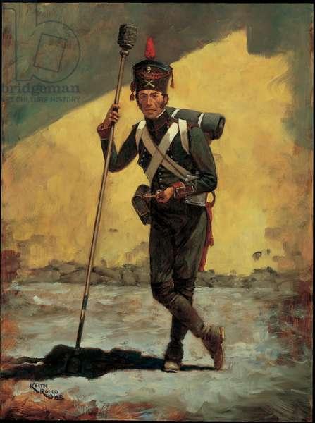 Gunner: Foot Artillery Regiment, Kingdom of Italy 1809, 2005 (oil on board)