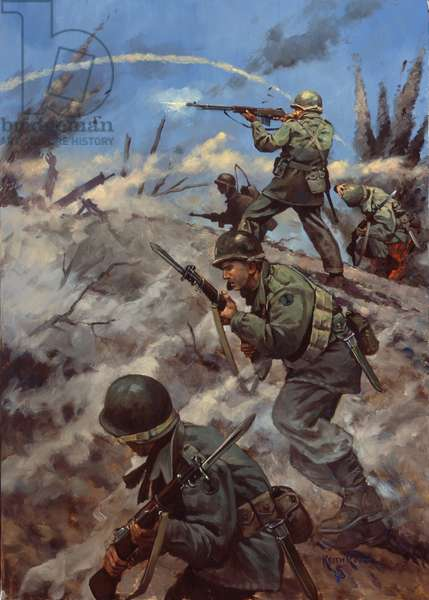 Korea, Bayonet Attack , 1995 (oil on linen)