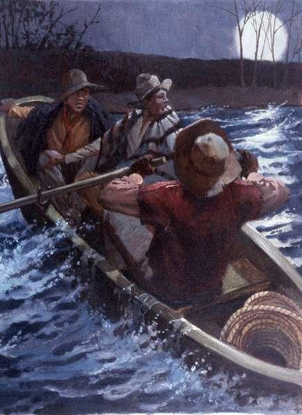 Underground Railroad #1, 1984 (oil on board)