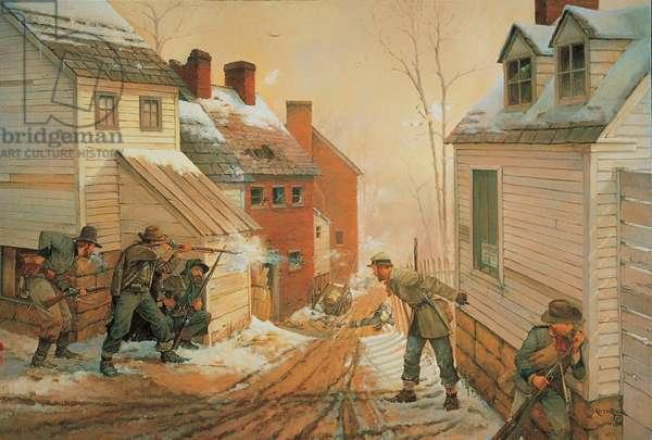 Pickets in Fredericksburg 1862, 1987 (oil on linen)