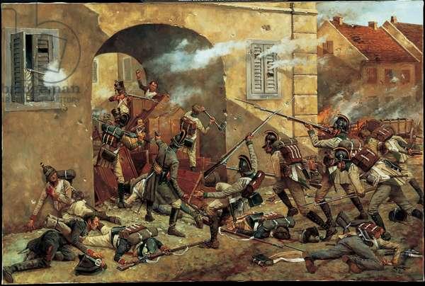 Battle of Aspern - 1809, 2002 (oil on linen)
