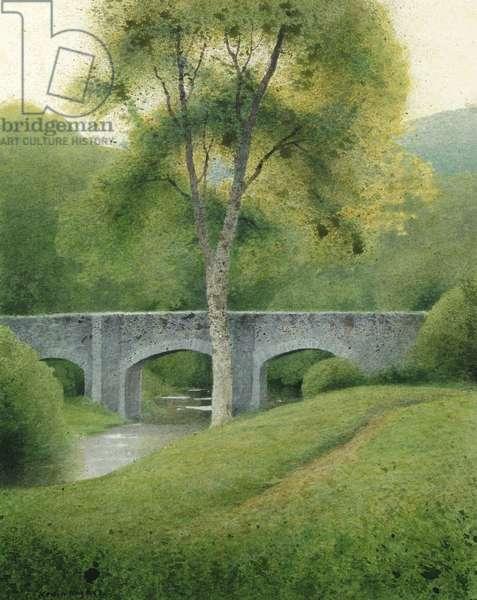 Tree & Bridge, Dartmoor, 2008 (w/c on paper)