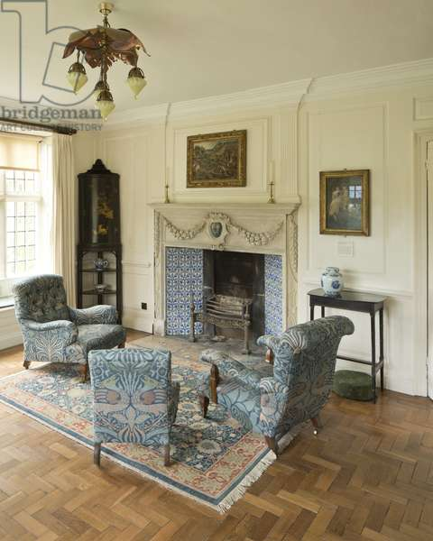 The Panelled (or White) Room, Kelmscott Manor, Oxfordshire (photo)