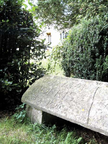 William Morris' grave at St George's Church, Kelmscott, Oxfordshire (photo)