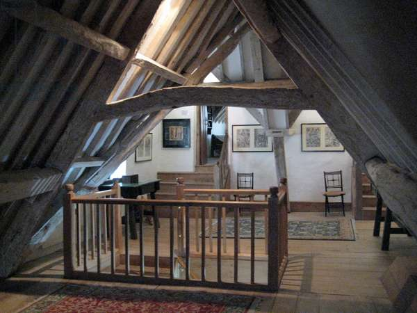 North attic,  Kelmscott Manor, Oxfordshire, built in 1570 (photo)