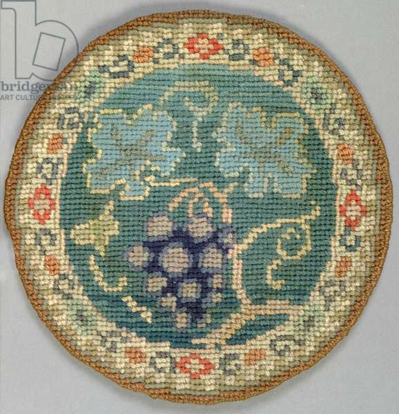 Fruiting vine table mat, 1910 (embroidery)