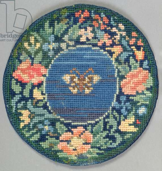 Butterfly table mat, 1910 (embroidery)