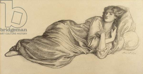Jane Morris, 12th August 1870 (pencil on paper)