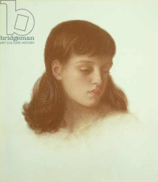 Jenny Morris (aged 10 years), 1871 (pastel on paper)