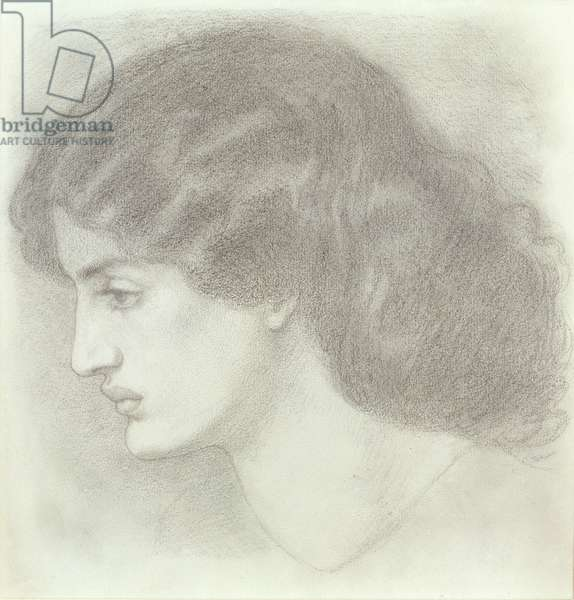 Jane Morris, 1861 (pencil on paper)
