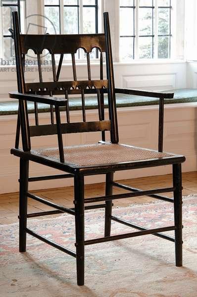 Gilded chair, 1862 (ebonised & gilded wood)