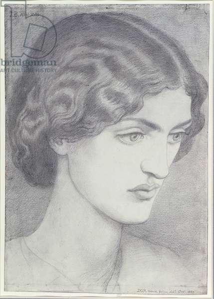 Jane Burden (later Morris), October 1857 (pencil on paper)