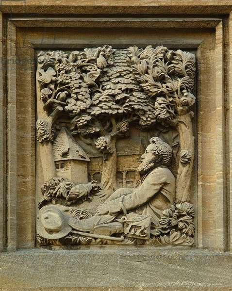Relief of William Morris, 1902 (stone)