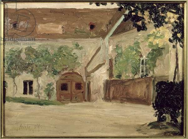 The Joiner Workshop in Klosterneuburg, 1907 (oil on canvas)
