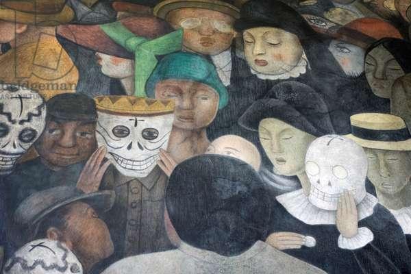 Detail from 'Fiesta en la Calle' by Diego Rivera, 1921