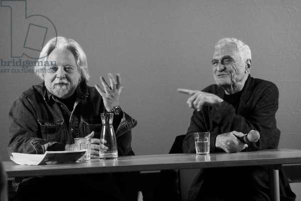 John Giorno and Jean Jacques Lebel, Paris, 2016
