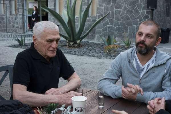 John Giorno and Ugo Rondinone in Mexico, February 2014