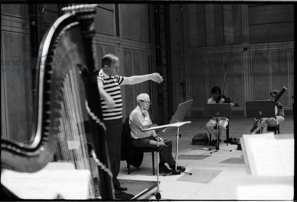 Elliott Carter, American Composer, at Ircam