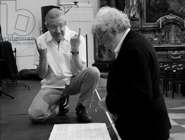 Sylvain Cambreling and Sir Harrison Birtwistle