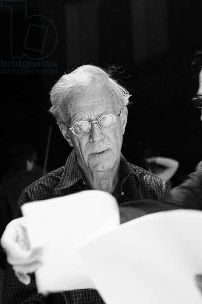 Jonathan Harvey at rehearsal in 2008