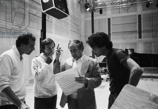 Pierre Boulez rehearsing 'Repons' at Ircam, 1984