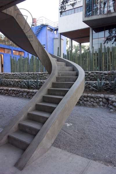 staircase at the House of Diego Rivera and Frida Kahlo