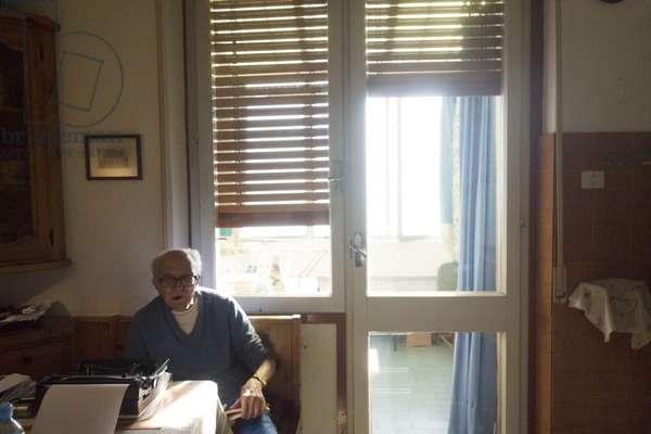 Boris Pahor, at home, Trieste, September 2018 (photo)