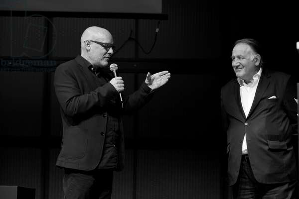 Brian Eno and Peter Weibel, 2014