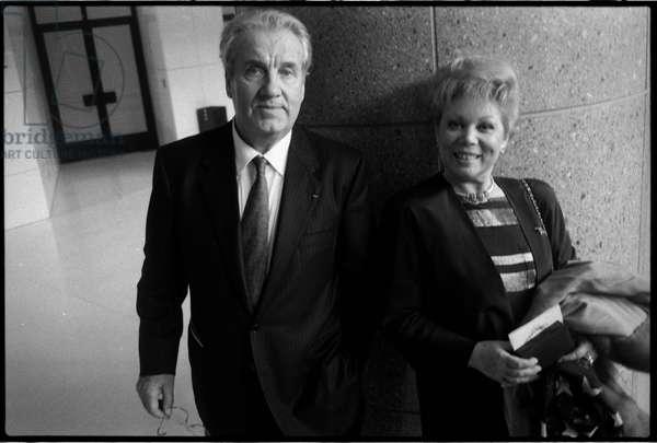Nicolai Ghiaurov and Mirella Freni, Opera de Paris Bastille, 1992 (b/w photo)