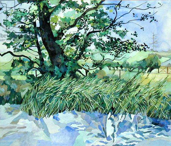 Bures Mill, Bures, Suffolk (collage and w/c on paper)