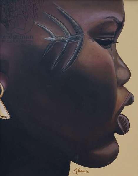 Tribal Mark, 2007 (oil and acrylic on canvas)