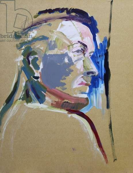 Portrait in Colour, 2019, (acrylic on board)