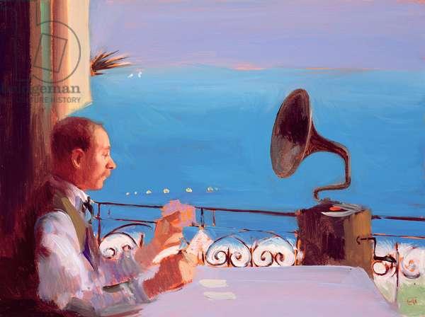 Puccini Blue, 2005 (oil on board)