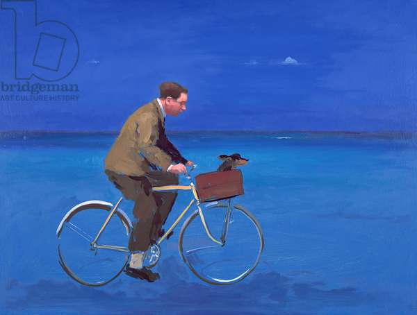 Cyclist, 2005 (oil on board)