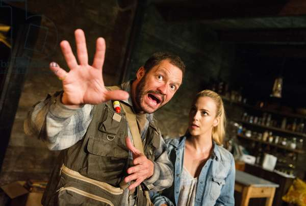 Dominic West and Miranda Raison in The River by Jez Butterworth at Royal Court Theatre, Jerwood Theatre Upstairs. directed by Dominic Cooke. (Opening 26-10-12) (photo)