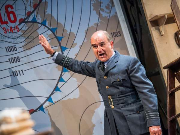 David Haig (Group Captain James Stagg) in Pressure by David Haig, Ambassadors Theatre, June 2018 (photo)