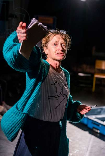 Hayley Carmichael in The Burning Tower by Helena Thompson at Kensal House Estate. S.P.I.D. Theatre in association with Bush Theatre, September 2018 (photo)