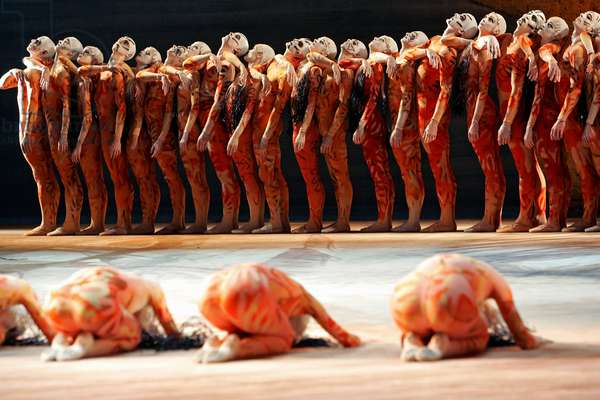 Rite of Spring -ballet with music by Igor Stravinsky (photo)