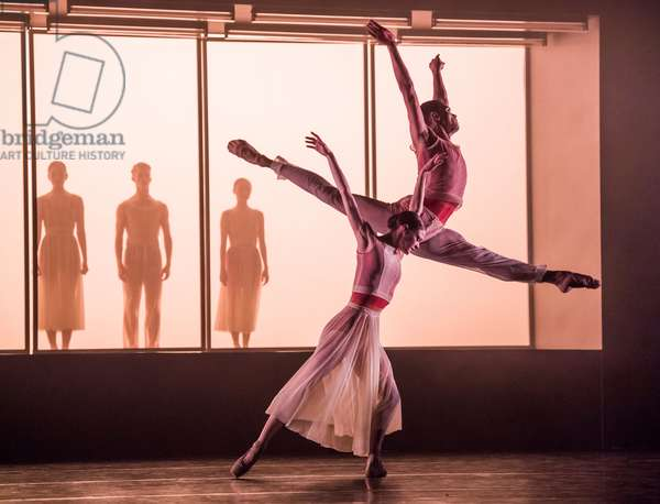 Brandon Lawrence (He) and Delia Mathews (She) in Embrace by George Williamson, Sadler's Wells, June 2018 (photo)