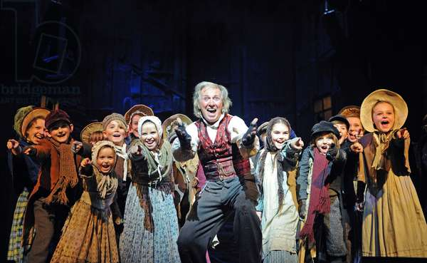 Tommy Steele (Ebenezer Scrooge) in Scrooge The Musical at London Palladium (Opening 6-11-12) (photo)