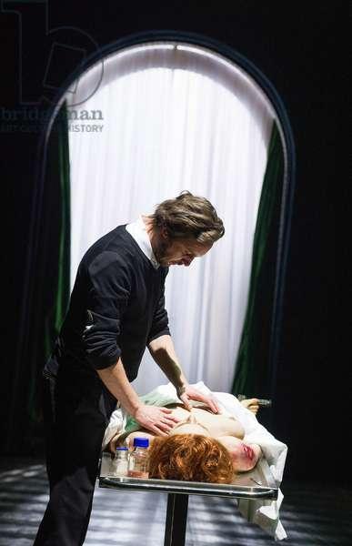 Adam Woronowicz (Arthur Holmwood) in Nosferatu by TR Warszawa at Barbican Theatre. Directed by Grzegorz Jarzyna. (Opening 31-10-12) (photo)