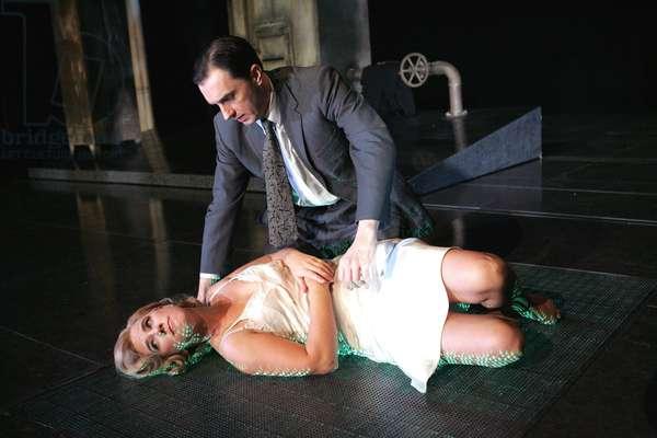 Sebastian Harcombe as Bosola and Imogen Stubbs (photo)
