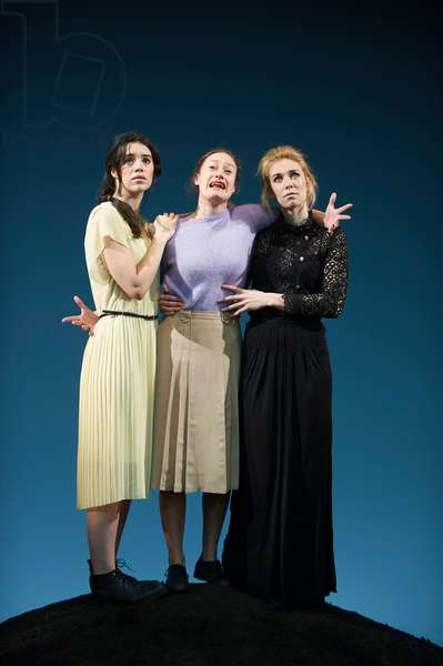 Gala Gordon (Irina), Mariah Gale (Olga) and Vanessa Kirby (Masha) in Three Sisters by Anton Chekov at Young Vic. Directed by Benedict Andrews. (Opening 13-09-12) (photo)