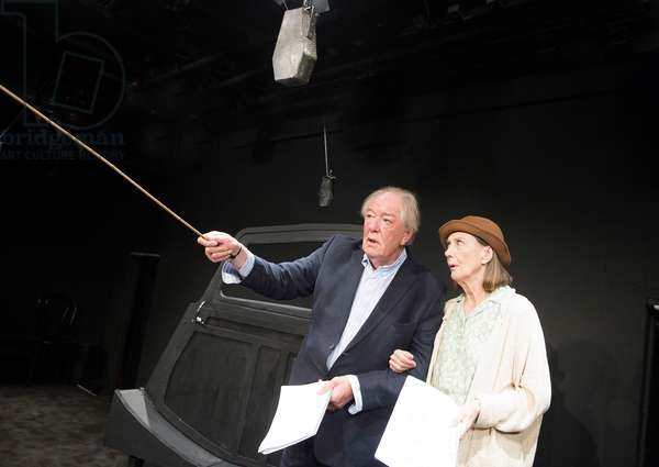 Michael Gambon (Mr Rooney) and Eileen Atkins (Mrs Rooney) in All That Fall by Samuel Beckett at Jermyn Street Theatre. Directed by Trevor Nunn. (Opening 11-10-12) (photo)