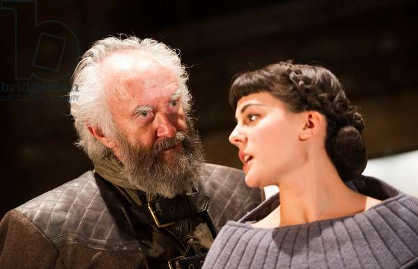 Jonathan Pryce (King Lear) and Phoebe Fox (Cordelia) in King Lear by William Shakespeare at Almeida Theatre. Directed by Michael Attenborough. (Opening11-09-12) (photo)