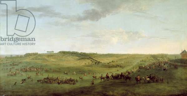 A View of Knowsley Racecourse from Riding Hill (oil on canvas)