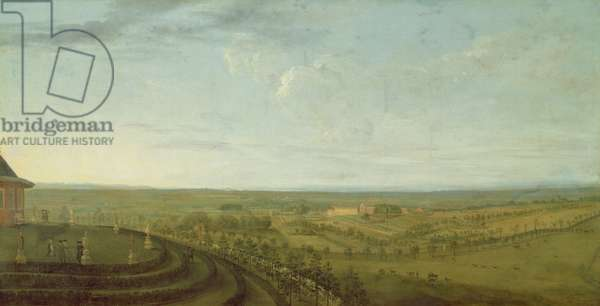 View of Knowsley from Riding Hill (oil on canvas) (see 204100)