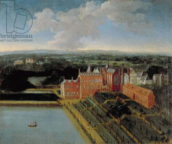 View of Knowsley House from the South-East (oil on panel)