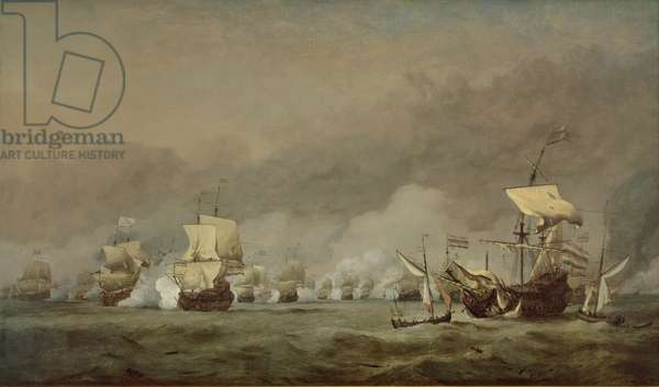 The Four Days' Battle, The Hollandia Disabled, 1st-4th June 1666 (oil on canvas)