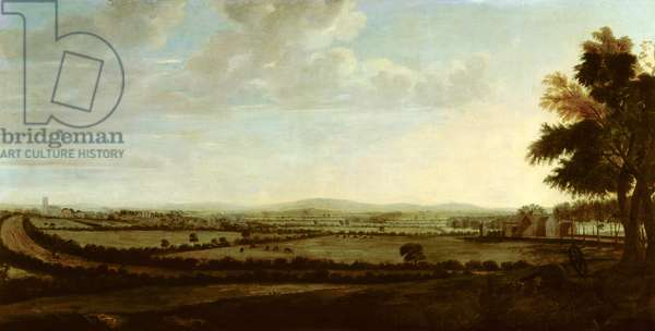 Knowsley Village, from Walton (oil on canvas)